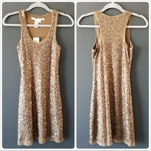 NWT Max Studio Sequins mini dress XS